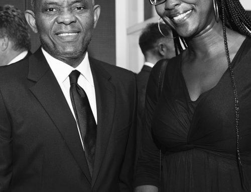 Akosua with influential business leader and philanthropist Tony Elumelu (Heirs Holdings, Tony Elumelu Foundation)