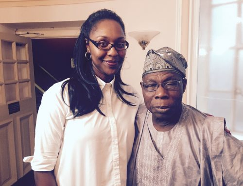 Akosua with Former President of Nigeria, H.E Olusegun Obasanjo